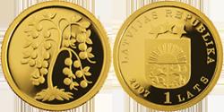Монета viens 1 lats 2007 монеты красной книги 1991 1994 год