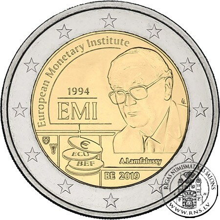 df3f9d13b1 Belgium, 2 Euro 2019, European Monetary Institute (coincard) ...